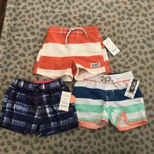 3 Carters baby boy bathing suits for price of 1